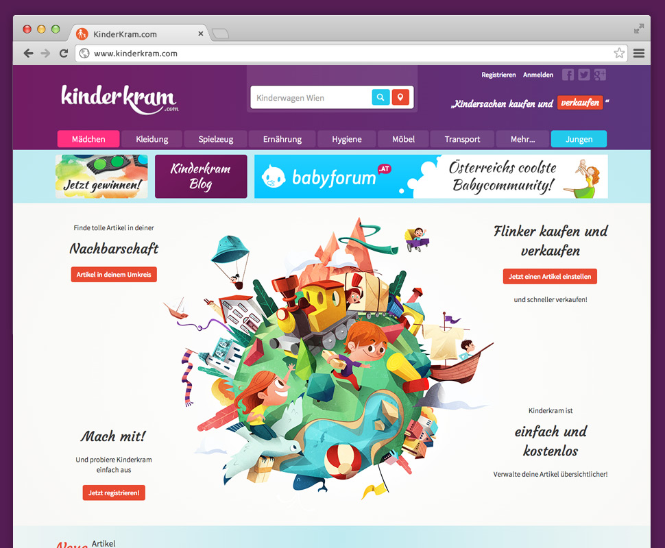 Babyforum.at Website Screenshot