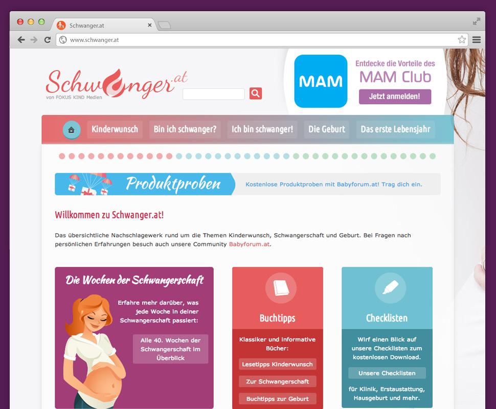 Schwanger.at Website Screenshot